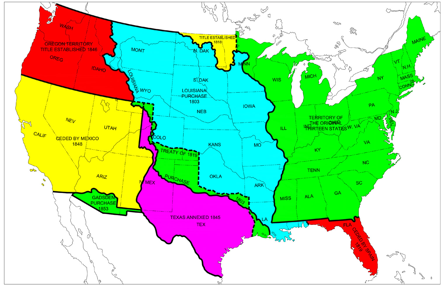 american territories North american groups use the map below to go to the different student reports.